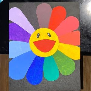 Takashi Murakami Smile On Rainbow Flower
